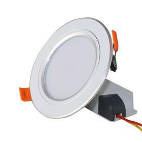 Đèn led âm trần viền bạc 7W Φ90 Rạng Đông