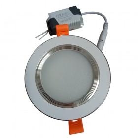 Đèn led âm trần viền bạc 7W đơn màu