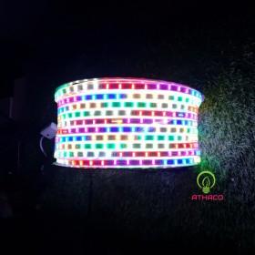 Đèn Led Dây Đuổi Màu 2 Hàng Bóng Cuộn 100M