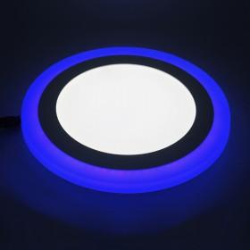 Đèn ốp nổi trần 2 màu 3 chế độ tròn  18+6W