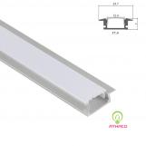 Đèn led thanh nhôm định hình U508 Y lắp âm (Loại dày)