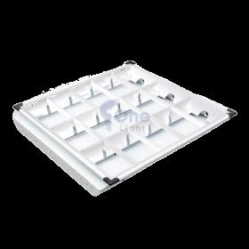 Máng đèn led âm trần 600x600 3 bóng tuýp 0M6