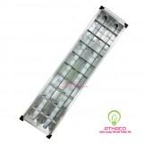 Máng đèn led âm trần phản quang 300x1200mm 2 bóng 1m2