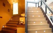 Làm nổi bật cầu thang của gia đình bằng hệ thống đèn led tiết kiệm điện