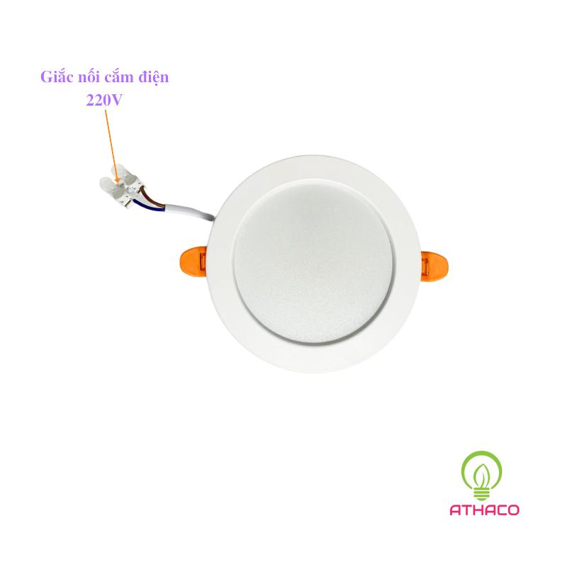 Đèn led âm trần 8W D90 siêu sáng