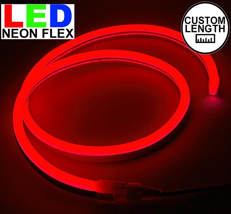 Đèn led dây neon 220v cuộn 100m màu đỏ
