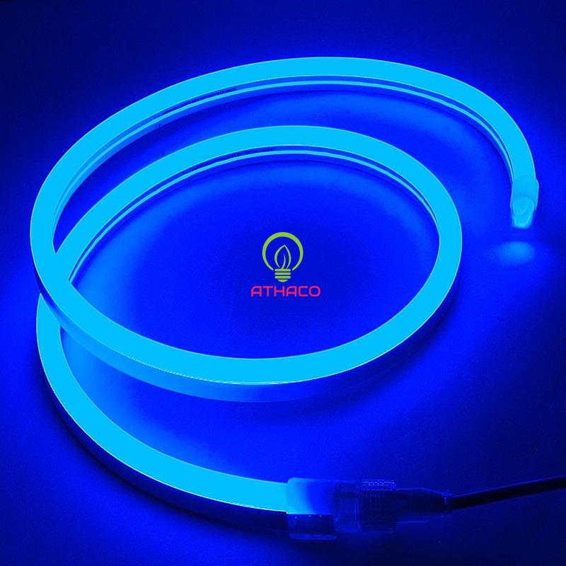 Đèn led dây neon 220v cuộn 100m màu xanh dương