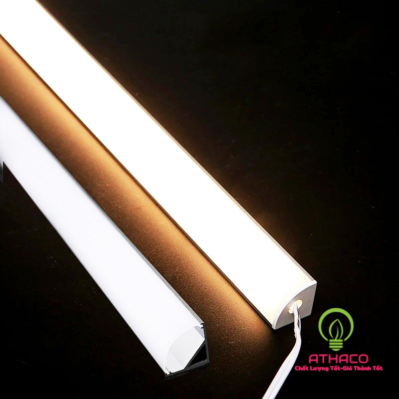Đèn led thanh nhôm định hình V1919 lắp góc