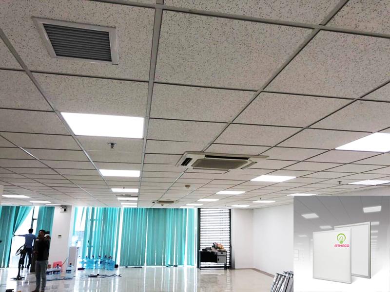 lắp đặt đèn panel âm trần athaco lighting thạch cao 4