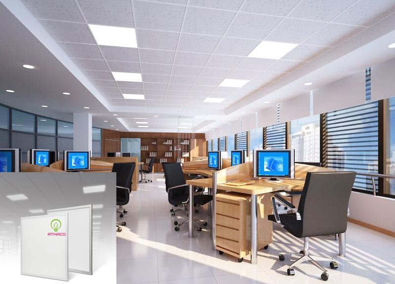 lắp đặt đèn panel âm trần athaco lighting thạch cao  2