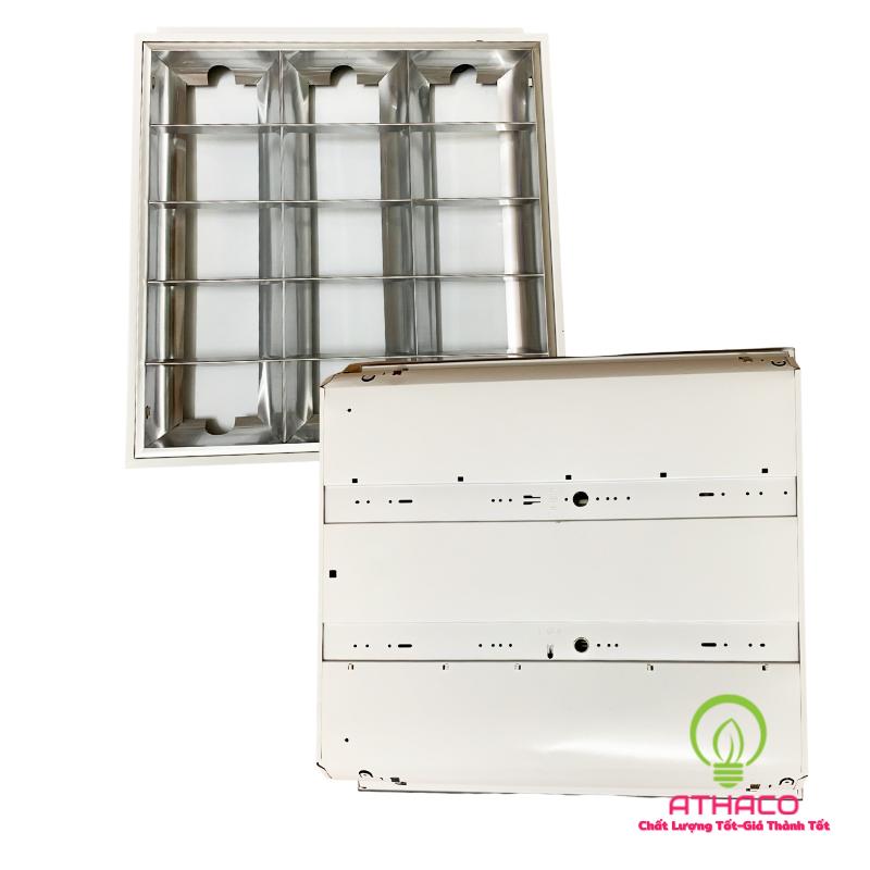 Máng đèn led âm trần 600x600 3 bóng tuýp 0M6  1
