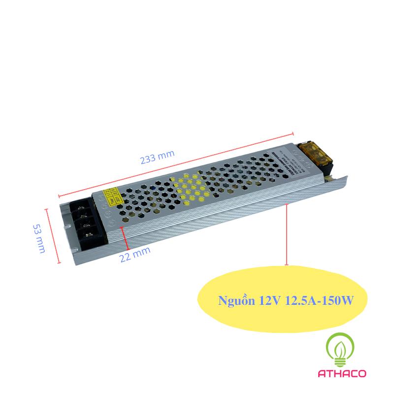 Nguồn led 12V 10A 12.5A 20A 30A siêu mỏng 2
